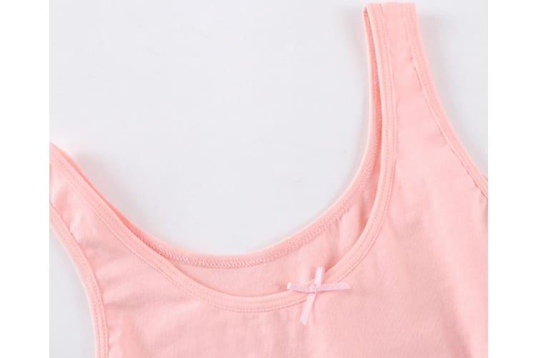 2Pcs Seamless Bra Soft Cotton Puberty Training Bra For Young And Little Girls - 1 White 160Cm