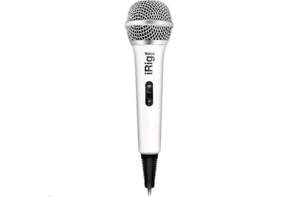 IK Multimedia iRig Voice iOs/Android Handheld Microphone - White