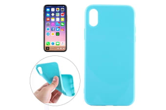 For iPhone XS X Case Elegant Solid Durable Grippy Protective Cover Green