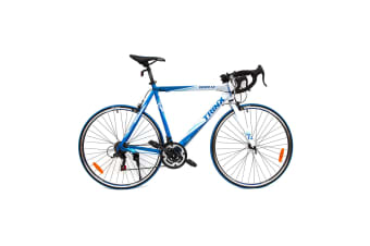 Trinx 700C Road Bike TEMPO1.0 Shimano 21 Speed Racing Bicycle 59cm Blue/White