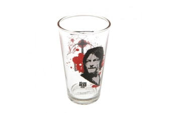 The Walking Dead Official Daryl Large Glass (Clear/Black/Red) (One Size)