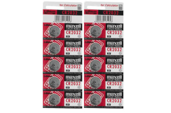 10PK CR2032 3V 220mAh Lithium Battery Button Cell