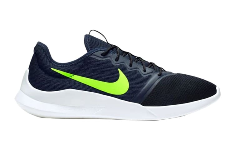 Nike Men's Viale Tech Racer Shoes (Black/White/Green, Size 9.5 US)
