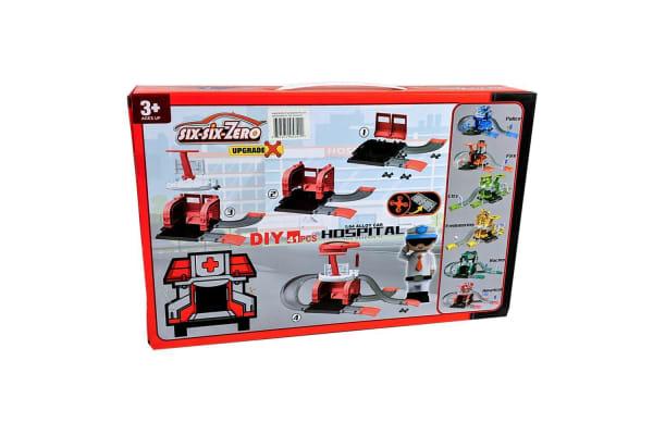 Build Your Own Hospital and Garage Set with Diecast Cars