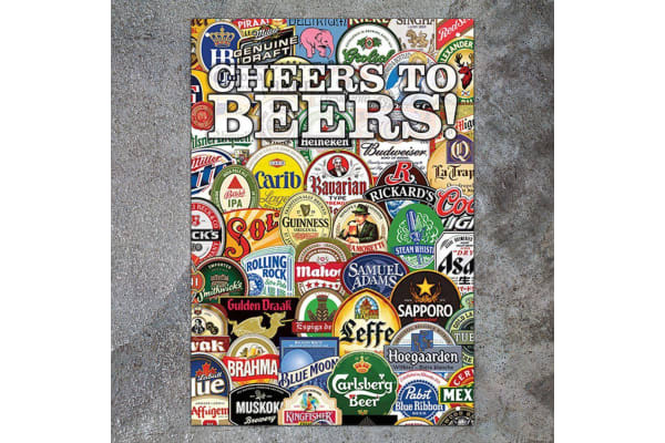 Cheers To Beers! World Beers Novelty Tin Sign 29x20.5cm