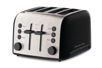 Russell Hobbs Brooklyn 4 Slice Toaster - Black (RHT94BLK)
