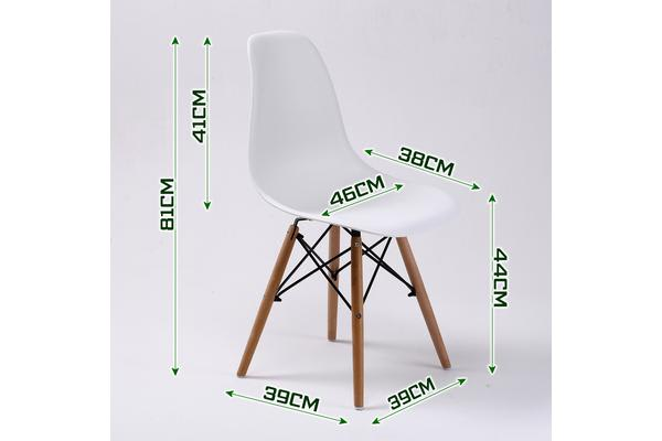 Replica Eames DSW Dining Chair - WHITE X2
