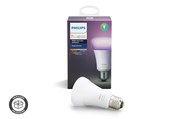 Philips Hue White and Colour Ambiance Single Bulb E27 - (Damaged Packaging)