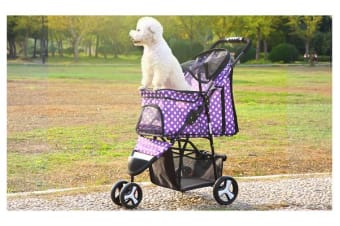 Pet Stroller Dog Cat Puppy Jogger - Purple