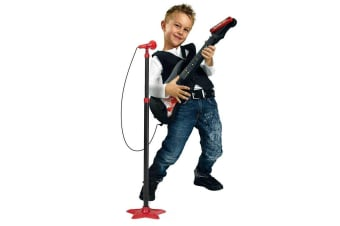 Music World Kids Guitar with Microphone and Stand