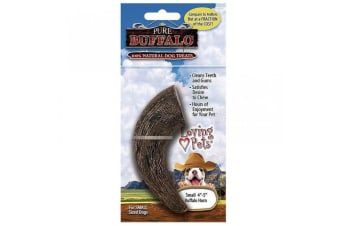 Loving Pets Dogs Buffalo Horn Chew Toy (Brown)