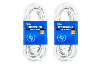 2PK The Brute Power Co 10m Extension Lead/Cord Cable AU/NZ 24000W 240V Home Plug