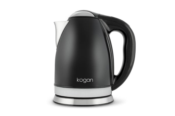 Kogan Stainless Steel Smart Kettle (Black, 1.8L)