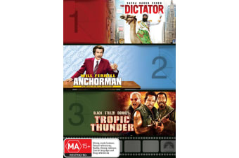 The Dictator / Anchorman The Legend of Ron Burgundy / Tropic DVD Region 4