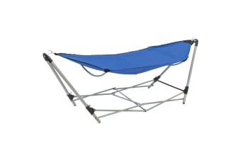 vidaXL Hammock with Foldable Stand Blue