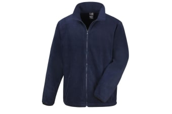 Result Mens Core Fashion Fit Outdoor Fleece Jacket (Navy Blue) (L)