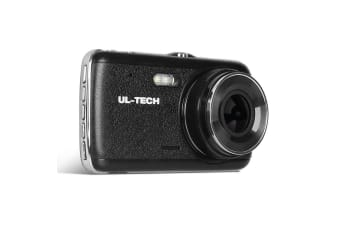 UL-TECH Reversing Camera Dash Cam Dual Lens Car 4'' HD Recorder 1296P 32GB
