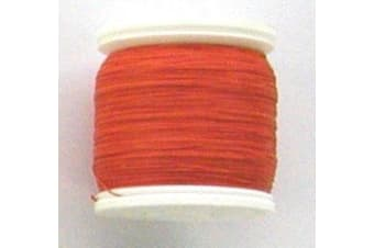 Seahorse 100 Yard Spool of Size A Rod Wrapping Thread - Rod Binding Cotton (Colour: Orange)