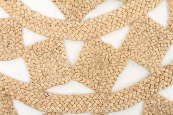 Round Jute Natural Tessellate Rug 200x200cm