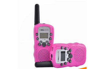 Retevis RT-388 22 Channel FRS/GMRS Rechargeable Walkie Talkies for Kids Pink
