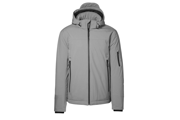 ID Mens Winter Water Resistant Regular Fitting Soft Shell Jacket (Grey) (2XL)