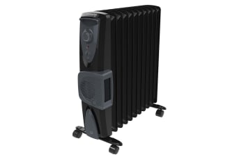 Dimplex 2400W Black Eco Oil Free Column Heater w/ Turbo Fan/Thermostat Control