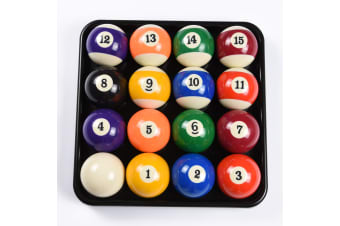2 Inch Pool Billiards Ball Set & Plastic Balls Tray