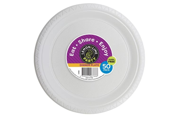 1000 x 23CM Disposable Plastic Plates 230mm Round White Plate Party Occasions Bulk