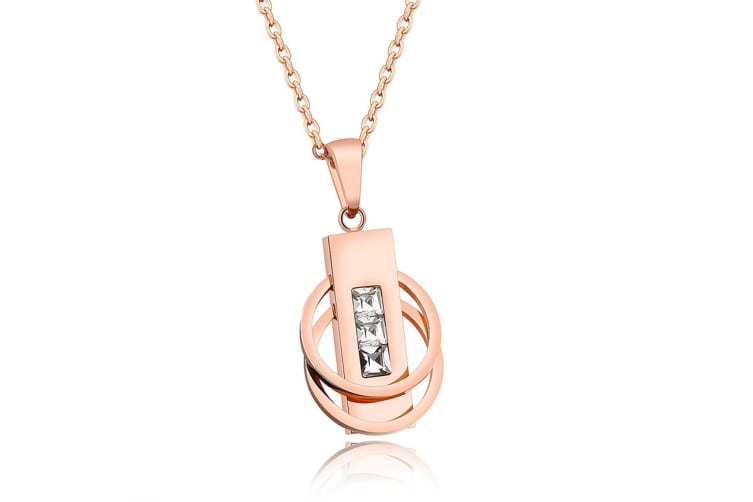 Enchantress Necklace-Rose Gold/Clear
