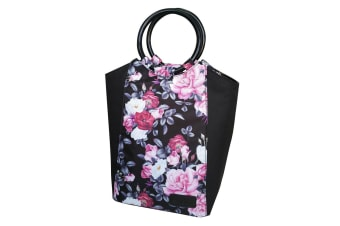 Sachi Insulated Lunch Bag carry Tote Storage Travel Bag Midnight Floral
