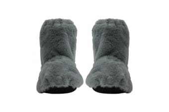 Heat Feet: Microwavable Slippers - Grey