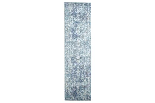 Muse Blue Transitional Rug 500x80cm