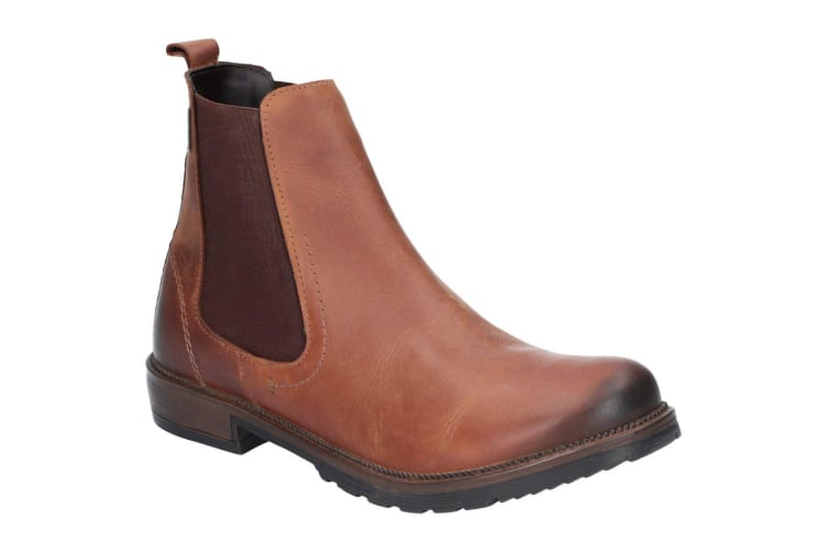 Cotswold Womens/Ladies Eastcombe Slip On Leather Ankle Boot (Chestnut) (5 UK)