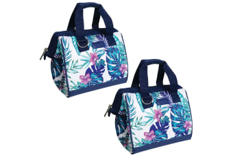 2x Sachi Thermal Insulated Picnic Lunch Box Bag Carry Food Tropical Paradise
