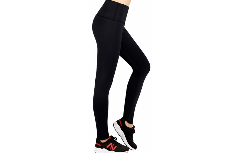 Women'S Yoga Capris Power Flex Running Pants Workout Leggings Black Xl