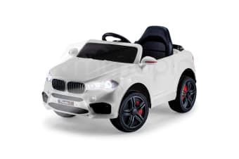 ROVO KIDS Ride-On Car BMW X5 Inspired Electric Toy Battery Remote 12V White