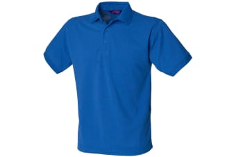 Henbury Mens Short Sleeved 65/35 Pique Polo Shirt (Royal) (M)