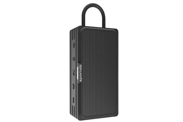 PROMATE Bluetooth v4.2 Water Resistanct IPX6 Speaker with true wireless stereo MicroSD black