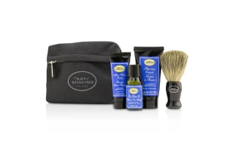 The Art Of Shaving Starter Kit - Lavender: Pre Shave Oil + Shaving Cream + After Shave Balm + Brush + Bag 4pcs + 1 Bag