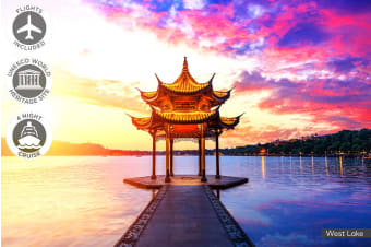 CHINA: 14 Day China Tour Including Flights for Two or One