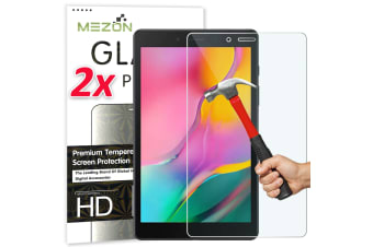"[2 Pack] Samsung Galaxy Tab A 8.0"" 2019 Tempered Glass Screen Protector by MEZON (SM-T290, T295, 9H HD)"