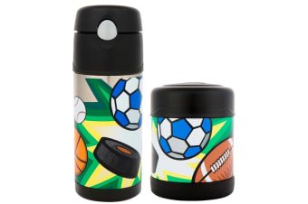 """Thermos Funtainer 290ml Food Container + 355ml Drink Bottle """"multisports"""""""