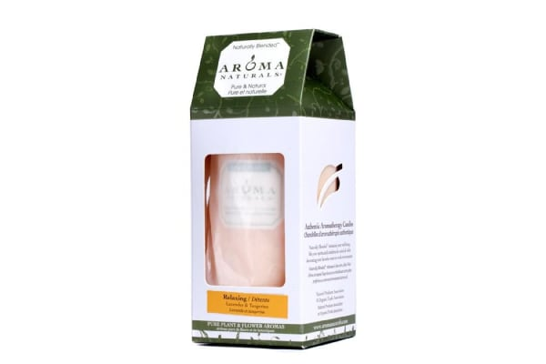 Aroma Naturals Authentic Aromatherapy Candles - Relaxing (Lavender & Tangerine) ((2.75x5) inch)