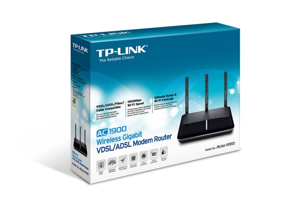 TP-Link Archer AC1900 Wireless Dual Band Gigabit VDSL/ADSL Modem Router (TD-ARCHERVR900)