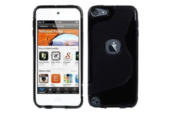For iPod Touch 5 6 Case S-Line High-Quality Durable Shielding Cover Black