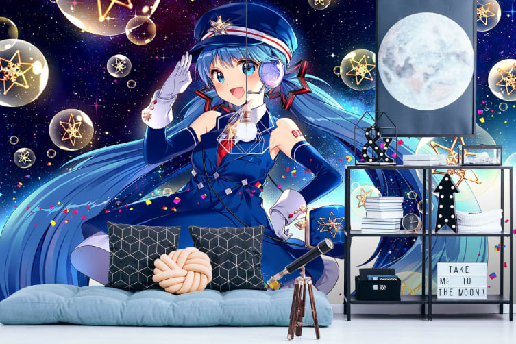 3D Luo Tianyi Stars 43 Anime Wall Murals Woven paper (need glue), XL 208cm x 146cm (WxH)(82''x58'')