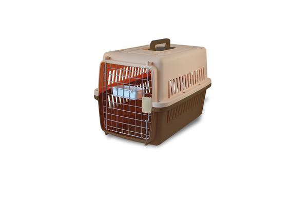 BROWN Airline Approve Dog Cat Portable Tote Crate Pet Carrier