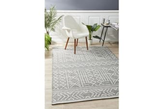 Ryder Grey & White Wool Textured Rug