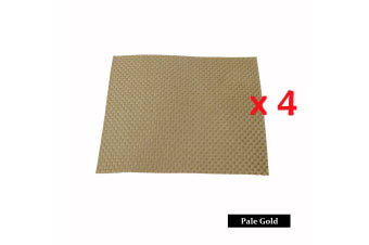 4 Pieces of Woven Table Placemats Pale Gold by Choice