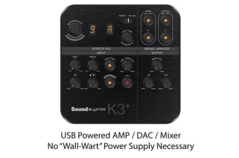 Creative Sound Blaster K3+ USB Powered 2 Channel Digital Mixer AMP/DAC/